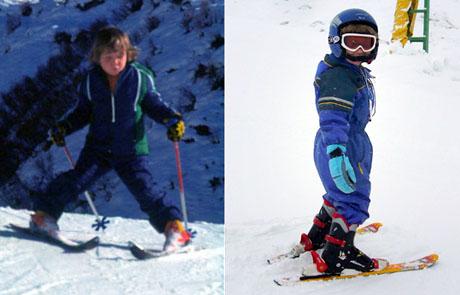 Skifahren lernen in Valtgeva / Sedrun: Andi 1975, Raphi 2010