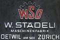 WSO-Maschinenfabrik: Firmenschild aus den 1960ern