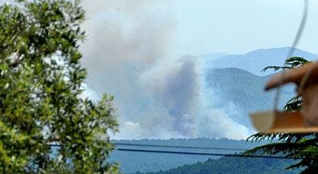 Waldbrand bei Seillans (Var), 31. Mai 2010