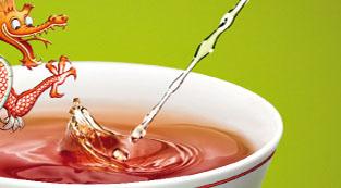 Armer Drache: Urinprobe im Tee