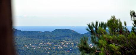 Bucht von St-Raphael bei Mistralwetter (Seillans, 14. Auguts 2010)