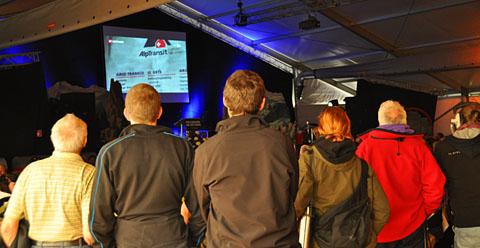 Impressionen vom Fest anlässlich des NEAT-Durchstichs in Sedrun, 15. Oktober 2010