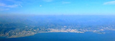 Côte d'Azur und Alpes Maritimes beim Anflug auf Nice, 21. Oktober 2010