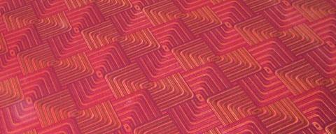 Gleich alt wie der Blöker: Teppich von 1972