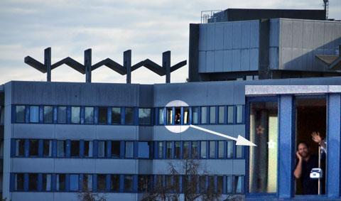 Blick von zu Hause ins Zieglerspital