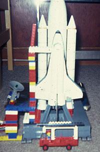 Space-Shuttle-Modell aus den frühen 1980ern