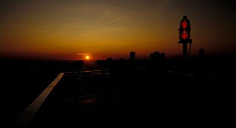 Sonnenuntergang auf dem Observation Deck des WTC, 24. Juni 1993