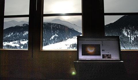 Sonnenfinsternis am 4. Januar 2011 in Sedrun: Nix gesehen...