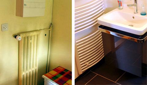 Vorher-Nachher: Das Badezimmer Anfang November 2010 und Ende Januar 2011