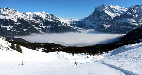 Skigebiet Männlichen/Kleine Scheidegg, 7. März 2011