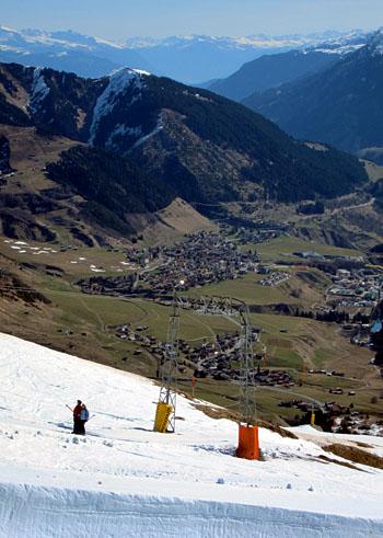 Sedrun, 3. April 2011: Letzter Skitag in Milez diesen Winter