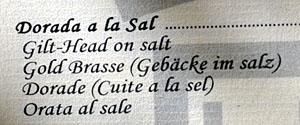 Gebäcke im Salz