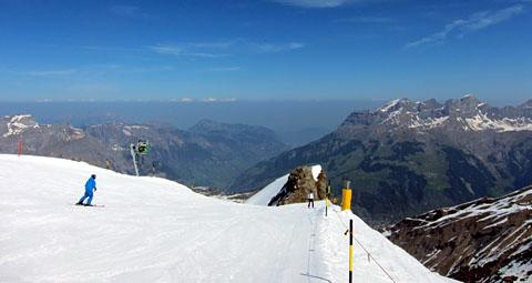 Skifahren am Gründonnerstag 2011 - Klicken für mehr Fotos