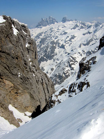 Gross und Chly Spannort vom Titlisgletscher aus gesehen (21. April 2011)