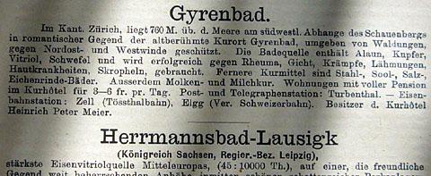 Bäder-Almanach von 1886