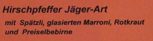 Speisekarte in Langnau, 2. Oktober 2011
