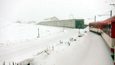Wintereinbruch am Oberalppass, 7. Oktober 2011