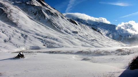 Wintereinbruch am Oberalppass, 9. Oktober 2011