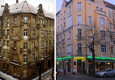 Jungstrasse 20 in Berlin anno 1992 und 2011