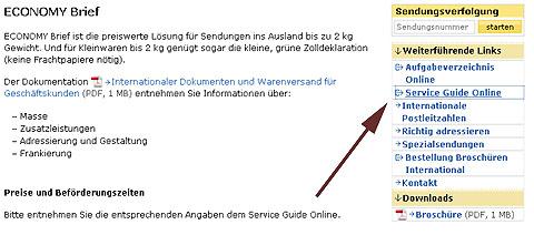 Usability auf der Post-Website anno 2011: Mangelhaft