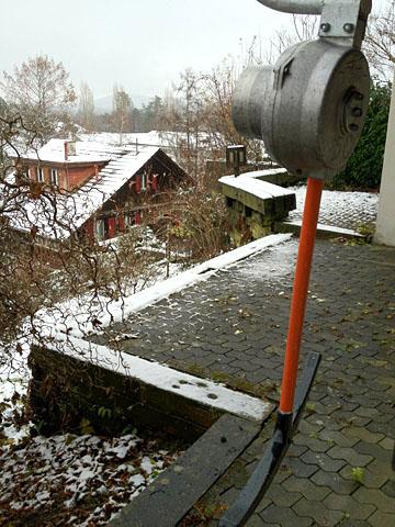 Der neue Skilift in Bern und der erste Schnee