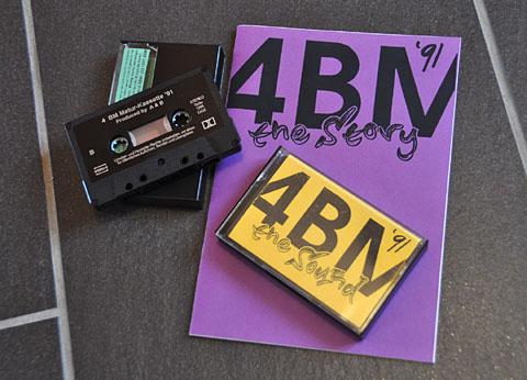 Maturzeitung und Cassette 4BM 1991 - klicken für grosse Fassung