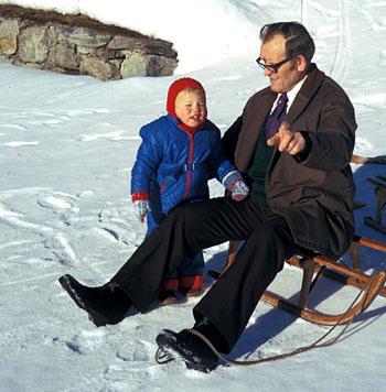 Klein Blöker, Januar 1974 in Sedrun