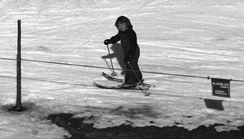 Einer der ersten Skitage im Leben von Klein Blöker, 1975