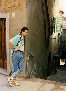 Der Autor auf Italienreise 1988