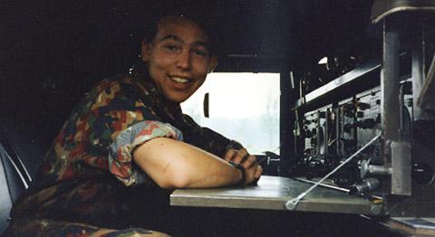 Im Funk-Pinz mit der guten alten SE-412 (Sommer 1992)