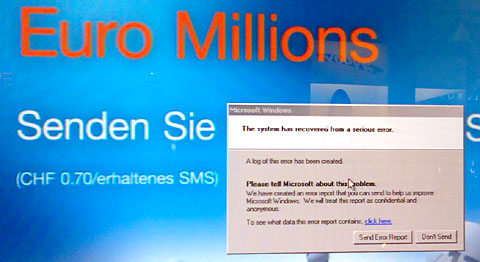 Euro Millions Error