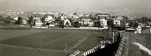 Knüslihubel/Bern aus dem Liebefeld, ca. 1940 (Klicken zum Vergrössern)