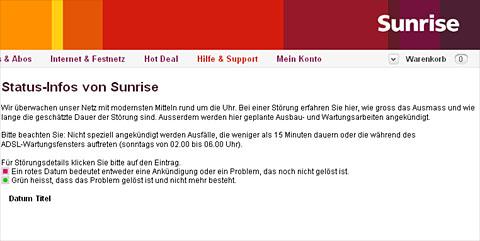 Kunden-Null-Info: 30 Antennen liegen angeblich flach, auf der Statusseite steht nichts (8.1.2012, 12 Uhr)