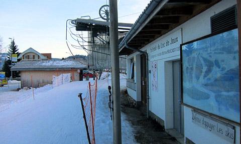 Skifahren im Vallée de Joux, Januar 2012 - klicken für mehr Fotos