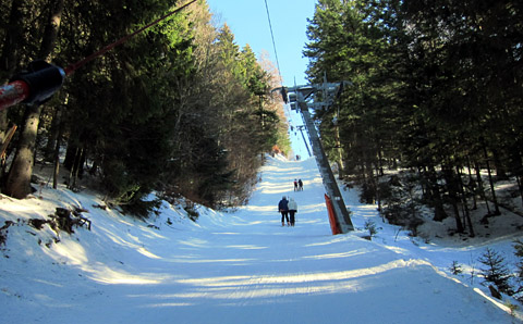 Skifahren im Vallée de Joux, Januar 2012