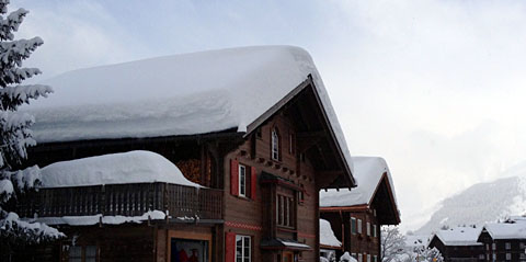 Viel Schnee in Sedrun, 25. Januar 2012