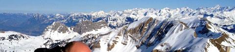 Aussicht vom Brienzer Rothorn nach Nordosten, 29.2.2012