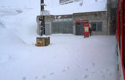 Schnee auf dem Oberalppass am 16. Mai 2012