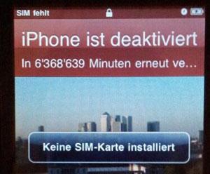 12 Jahre blockiertes iPhone