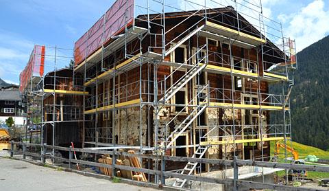 Umbau in Rueras, Mai 2012