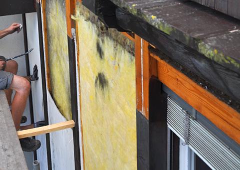 Fassadensanierung, Juli 2012