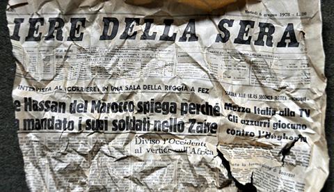 Corriere della Sera vom 6. Juni 1978 - als Isaolationsmaterial in Bern 2012 wiederentdeckt