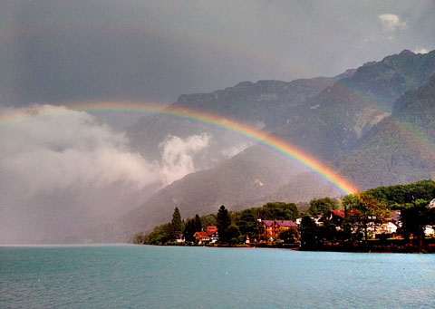 Regenbogen am Brienzersee, 27.7.2012