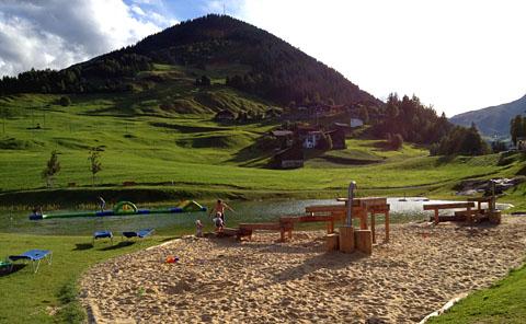 Badesee Lag Claus in Surrein bei Sedrun, 16. August 2012