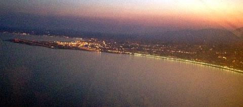 Visual Approach auf Rwy 22R in NCE (Saleya-Anflug), 19.8.2012