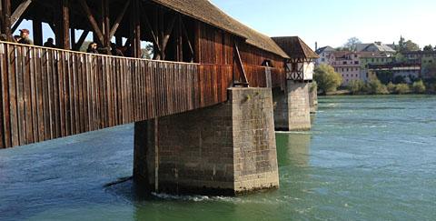 Holzbrücke Bad Säckingen, Oktober 2012