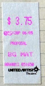 Kinoticket vom 5. Juni 1993
