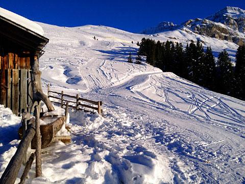 Skifahren auf der Elsigenalp, Dezember 2013 - klicken für mehr Fotos