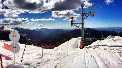 Col de Turini, Skifahren mit Meerblick
