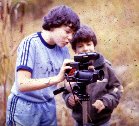Dreharbeiten in Itingen im Herbst 1984
